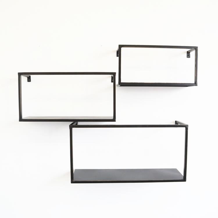 アンティーク調 壁掛けディスプレイシェルフ 四角型 3個セット人気 お得な送料無料 おすすめ 流行 生活 雑貨