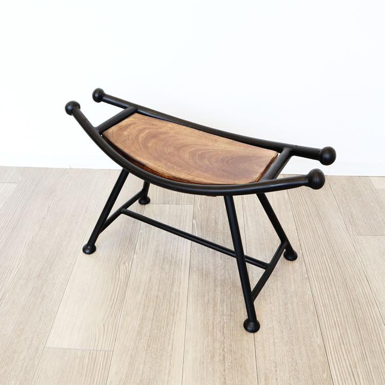 便利雑貨 日用品 アイアン&ウッドスツール 椅子 チェアー