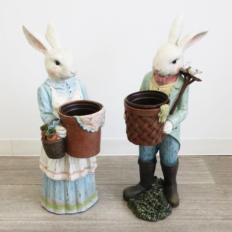 フラワーポット 鉢カバー プランター ウサギ 2個セットお得 な全国一律 送料無料 日用品 便利 ユニーク