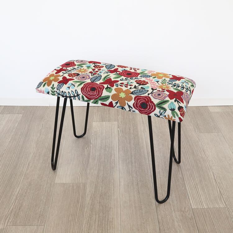 モダンスツール ベンチ 椅子 花柄お得 な 送料無料 人気 トレンド 雑貨 おしゃれ