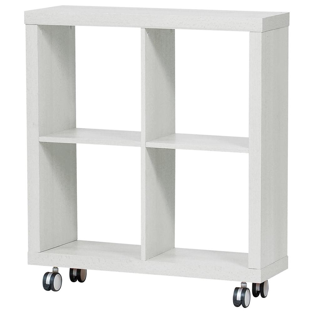 整理棚 収納 棚 キャスター キューブオープンシェルフ ホワイト