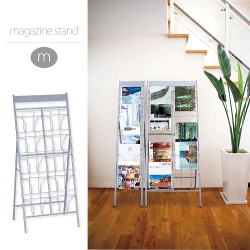 マガジンスタンド 散らばりがちな雑誌をザクザク差していくだけで、片付けまで出来てしまう、スグレモノ 人気商品 マガジンスタンド M シルバー