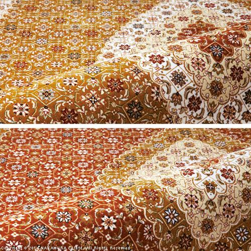 便利雑貨 ベルギー製 世界最高密度 ウィルトン織り 玄関マット 60x90cm ラグ カーペット じゅうたん ゴールド