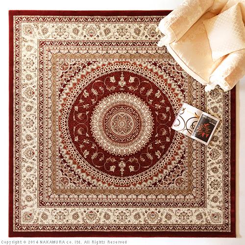 生活関連グッズ トルコ製 ウィルトン織りラグ 160x230cm ラグ カーペット じゅうたん レッド