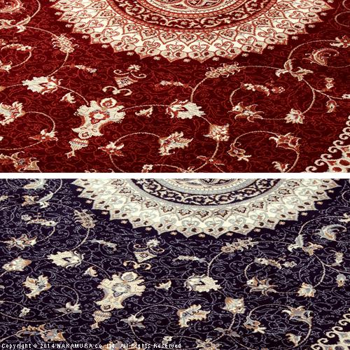 便利雑貨 トルコ製 ウィルトン織りラグ 200x250cm ラグ カーペット じゅうたん レッド