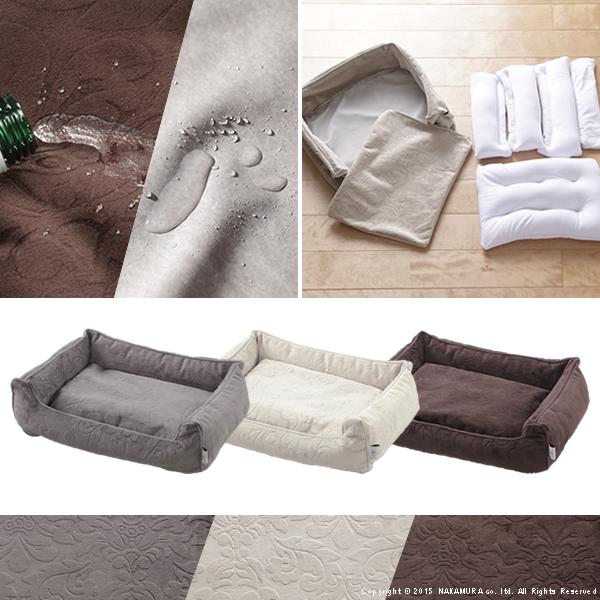ペット ベッド Lサイズ タオル付き ペット用品 カドラー ソファタイプ ブラウン