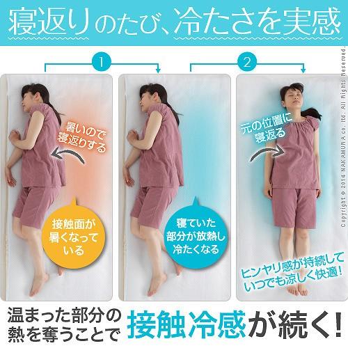 生活関連グッズ 接触冷感敷きパッド キューマックス・ネオ シングル 100×205cm 敷パッド 日本製