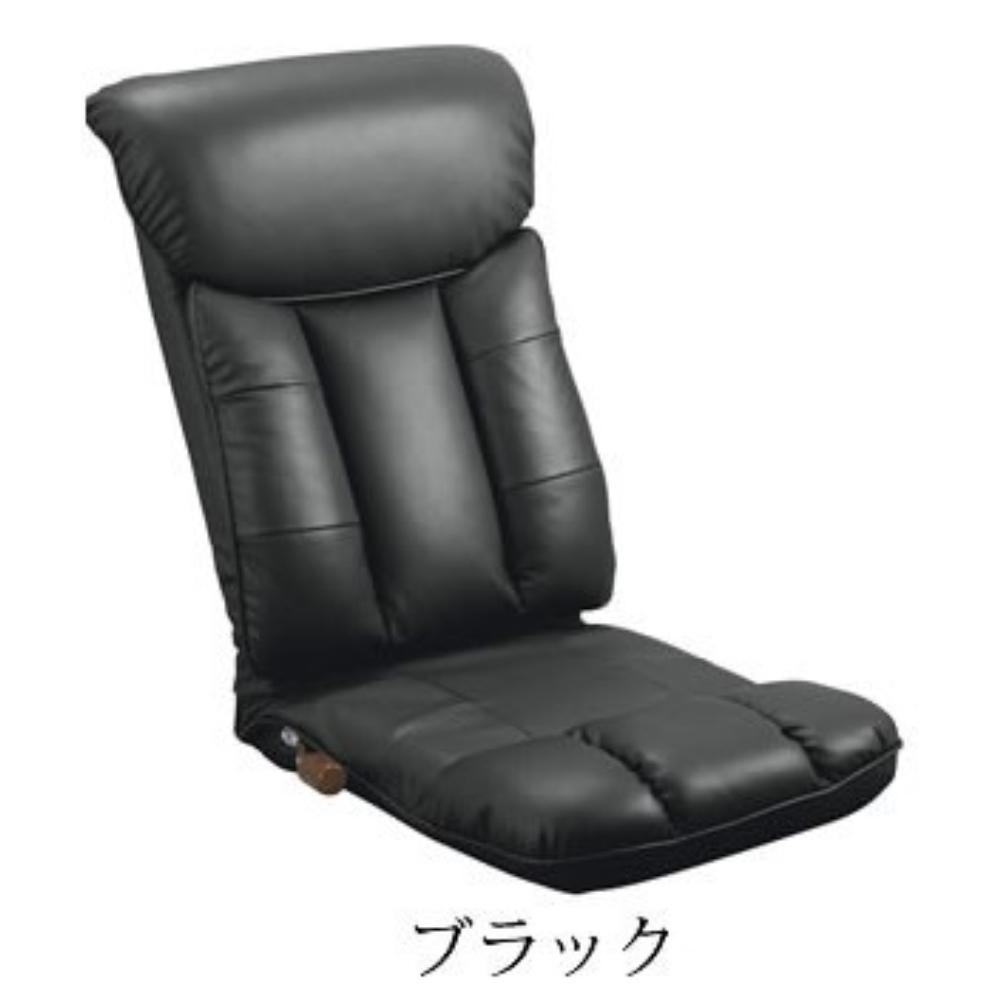 チェアー 座椅子 ウレタン スーパーソフトレザー座椅子 カラー:ブラック