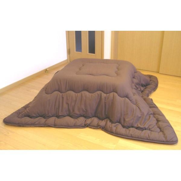 こたつ布団 薄起毛 気持ちいい 洗えるコタツ掛ふとん 185×185 ブラウン