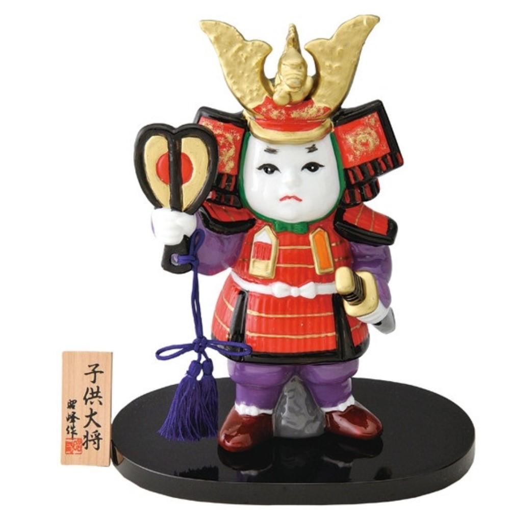 5月人形 お祝い 武者人形 五月人形 平安 子供大将 (白磁)
