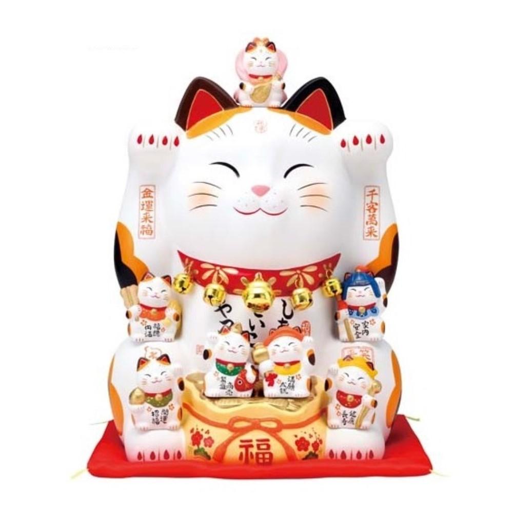 錦彩 七福神招き猫 (12号)