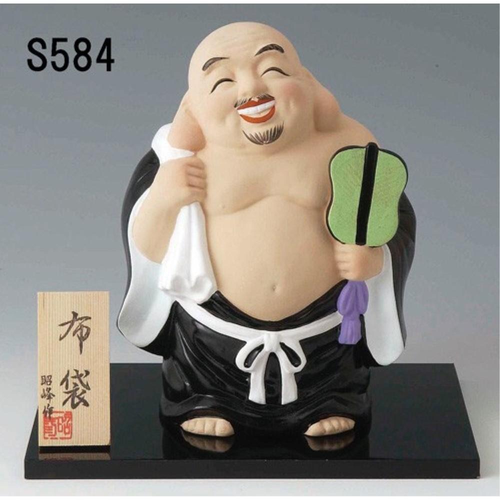 【3個セット】縁起物 置物 オブジェ 七福神置物 (特大) デザイン:布袋
