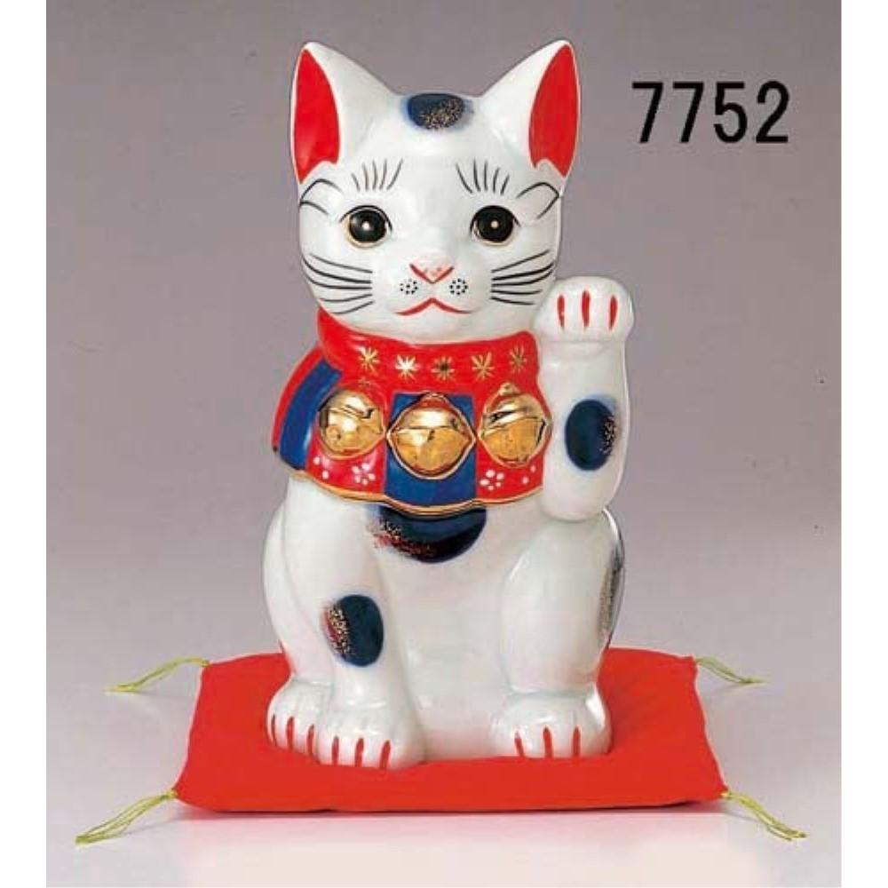 まねき猫 ねこ インテリア 染錦 招き猫 (8号)