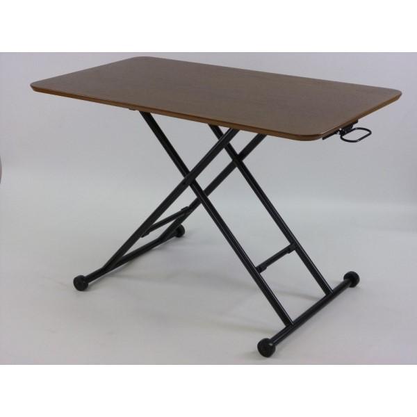 リフティングテーブル 高級感漂う、質感のあるテーブル!! インテリア 家具 ガス圧 ウォールナット