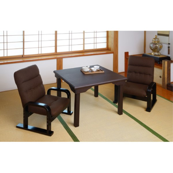 テーブルセット 3点 低めの、チェアー とテーブルの、セット 家具 和室でくつろぐテーブル&チェアー2脚セット