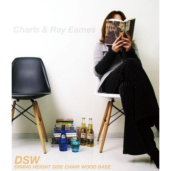 イームズ チェア DSW イームズ夫妻の代表作であるシェルチェア!!リプロダクト インテリア 家具 椅子 いす デザイナーズ リビング/ダイニング オレンジ
