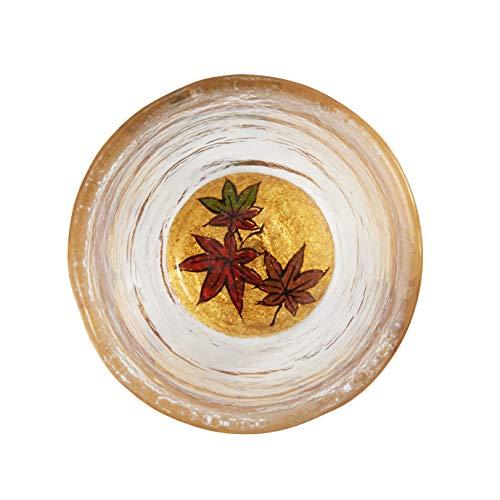おしゃれな雑貨□日本酒用 グラス 紅葉 サイズ:5.5×6cm 日用品□