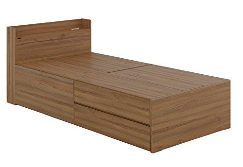 おしゃれな家具 □収納付ベッドフレーム シングルサイズ VAJI100S DNA 幅215×高80cm [3個口]□ 日用品