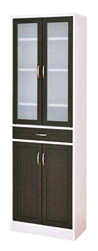 おしゃれな家具 □食器棚 ホワイト/ブラウン CTS180-60G□ 日用品