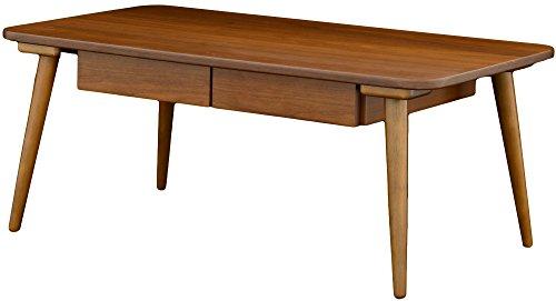 おしゃれな家具 ローテーブル リビングテーブル 引出し付き ダークブラウン 幅90cm 奥行50cm 高さ37cm VT4090HT DBR 日用品