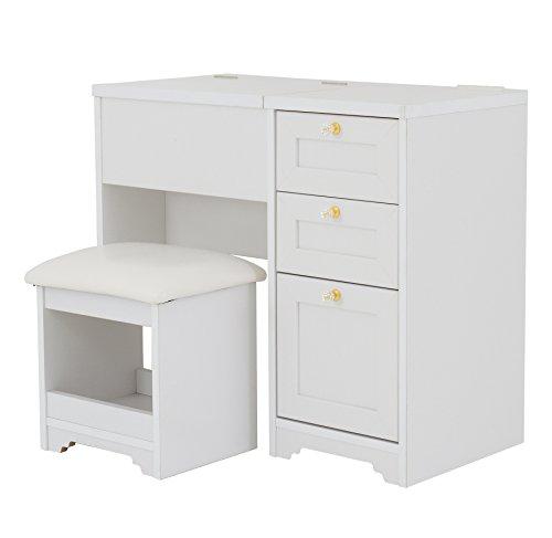 おしゃれな家具 □アンリデスクドレッサー(高さ70幅80cm)ホワイト AN70-80D□ 日用品