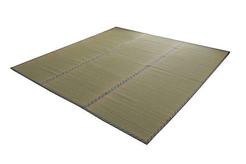 おしゃれなインテリア □い草 上敷き カーペット 6畳 国産 糸引織  江戸間6畳 (約261×352cm)□ 日用品