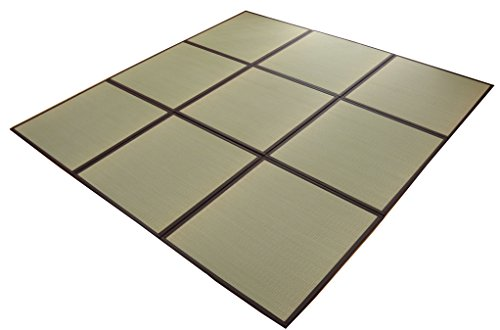 おしゃれなインテリア □い草 置き畳 ユニット畳 国産 半畳 9枚セット  約82×82cm 9枚組□ 日用品