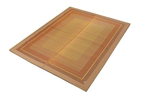 おしゃれなインテリア □い草ラグ カーペット 3畳 国産  ベージュ 約191×250cm (裏:不織布)□ 日用品