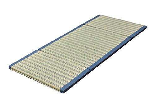 おしゃれなインテリア □マット い草マット ごろ寝マット  ブルー 約80×180cm (中材:ウレタン30mm)□ 日用品