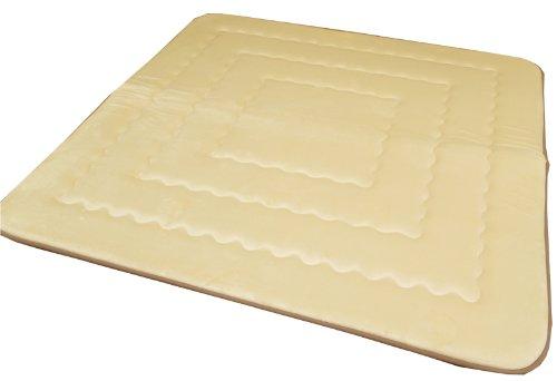 おしゃれなインテリア □ラグ カーペット 2畳 無地 ボリューム ふっくら敷  ベージュ 約190x190cm(中:国産固わた40mm)□ 日用品