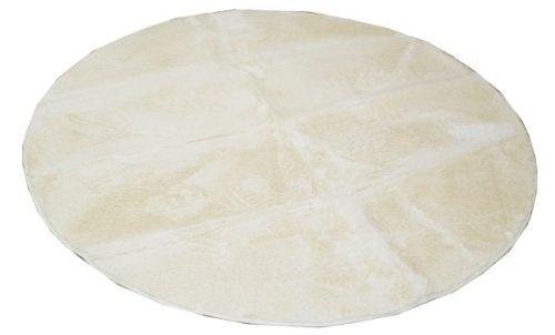 おしゃれなインテリア □ラグ カーペット 円型 無地 フィラメント糸  アイボリー 約185cm丸(ホットカーペット対応)□ 日用品