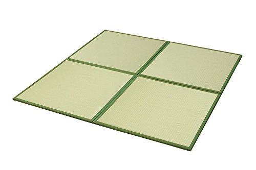 おしゃれなインテリア □置き畳 ユニット畳 PP 軽量タイプ  グリーン 約82×82×1.7cm (9枚1セット)□ 日用品