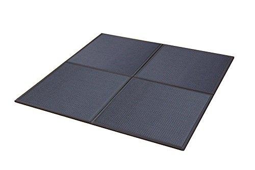 おしゃれなインテリア □置き畳 ユニット畳 PP 軽量タイプ  ブラック 約82×82×1.7cm (6枚1セット)□ 日用品