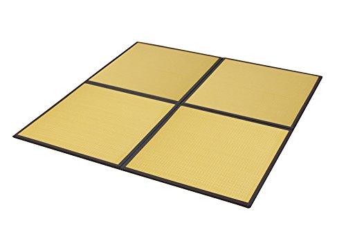 おしゃれなインテリア □置き畳 ユニット畳 PP 軽量タイプ  ベージュ 約82×82×1.7cm (4枚1セット)□ 日用品