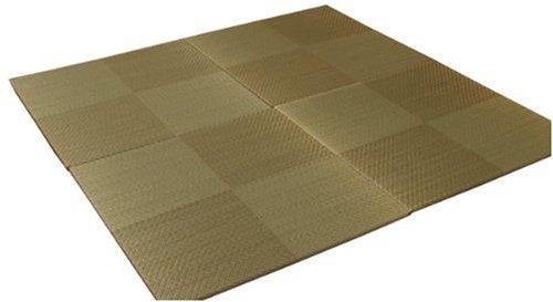 おしゃれなインテリア □置き畳 ユニット畳 シンプル 4枚組  ブラウン 約82×82cm 4P□ 日用品