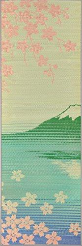 おしゃれなインテリア □[畳ヨガ]い草マット グリーン 60×180cm 日本製、YOGA/インテリアマット□ 日用品