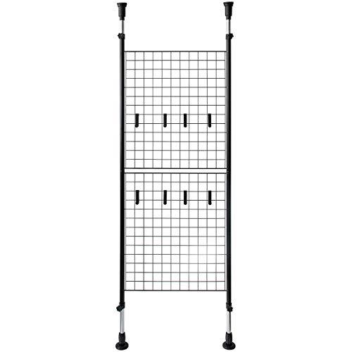 おしゃれなインテリア □パーテーション 天井突っ張り ブラック 幅64×奥行き7×高さ168~288cm SK-640 BK□ 日用品