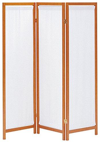 おしゃれなインテリア □木製スクリーン (帆布) 3連 ブラウン HT-3(BR)□ 日用品