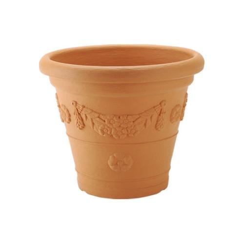 ガーデニング 植木鉢 「本物の風格と存在感」を軽量で扱いやすく… 家庭菜園 アンティコ鉢55型 ブラウン(BR)