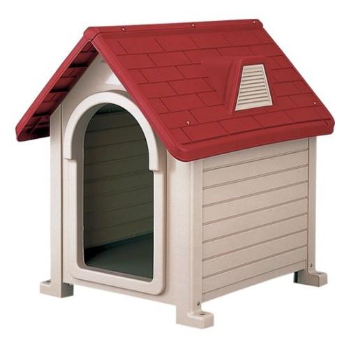 【クイン天然ゴム手袋M 付き】犬小屋 設計 犬 小屋 通販 犬小屋 サイズ: 69.5×84×87H(cm) 簡単 ペットハウス DX-580 レッド(R)