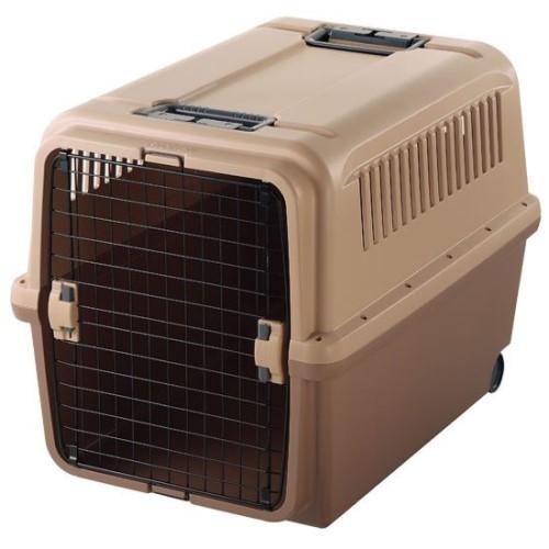 ペット用 キャリー ワンタッチ で扉の取り外しOK 犬 猫 グッズ キャンピングキャリー XL ブラウン(BR)