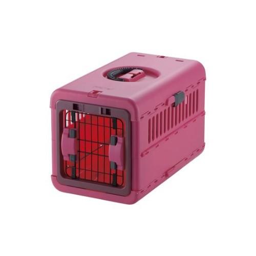 ペット キャリーバッグ シートベルト 固定機能付き 安心 快適 キャンピングキャリー 折りたたみ S ピンク(P)