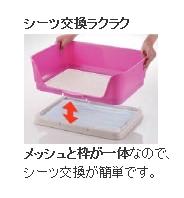 犬 トイレトレーニング メッシュと枠が一体なので、シーツ交換 が簡単です。 話題の しつけ用ステップ壁付きトイレ ワイド ダークブラウン(DB)