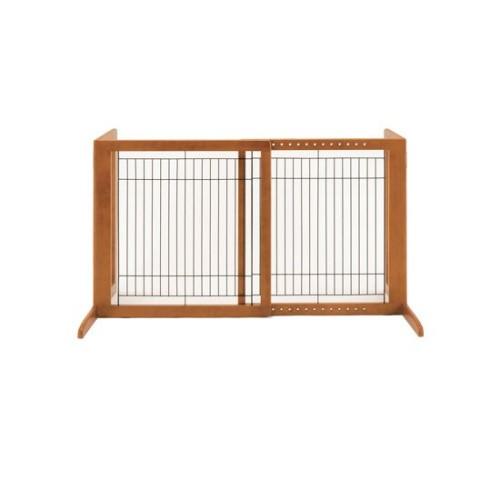木製 ゲート いろんな場所に簡単設置。 人気 ペット用 木製おくだけゲートH ブラウン(BR)