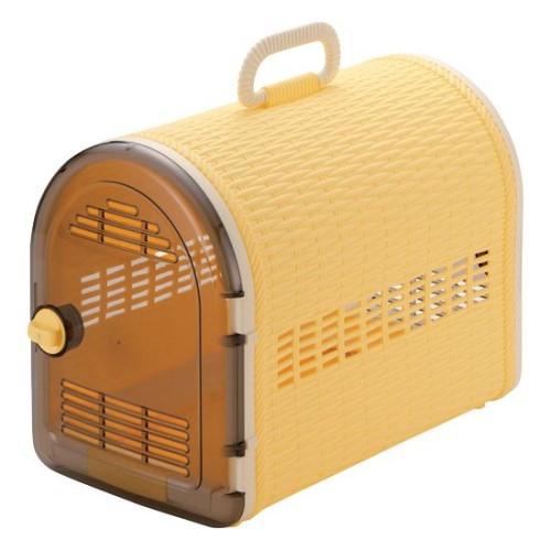 ペットキャリーバッグ サイズ: 24.2×44×32.5H(cm) おしゃれ 籐あみ調キャリー44 オレンジ(O)