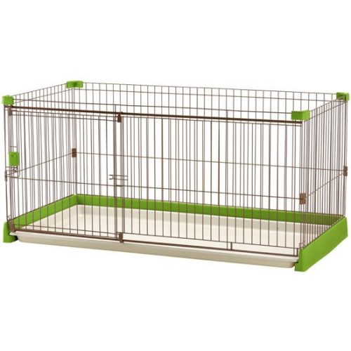 ペットサークル 犬 超小型~中型犬用 ペット用品 ペット用 お掃除簡単サークル 150-80 グリーン(GR)