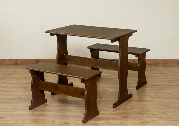 NEWテーブル&ベンチセット ダークブラウン ダイニングテーブル ダイニングチェア ベンチ 木製