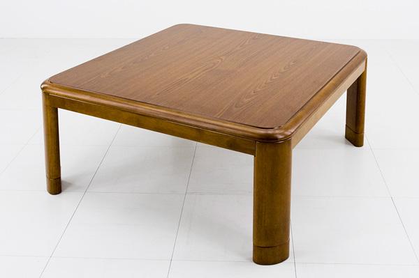 コタツ 継脚式 80×80 正方形 ブラウン メトロ電気工業 炬燵 こたつ テーブル 木製