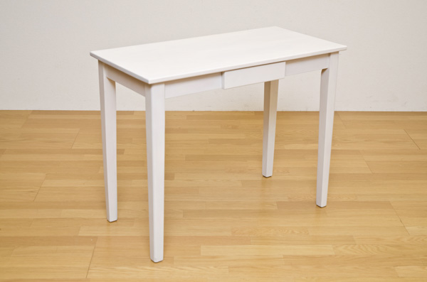 木製テーブル 90×45 ホワイト デスク 机 木製