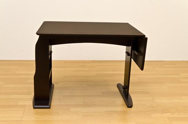 ATOLL 収納付ダイニングテーブル ダークブラウン ATOLL ダイニングテーブル 木製